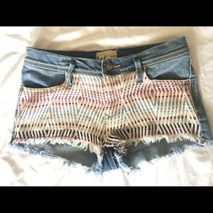 Fun-Patterned Jean Shorts